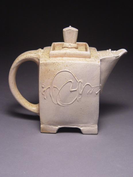wood teapot